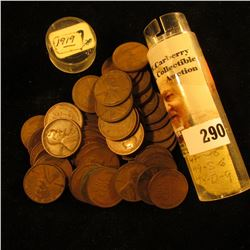 Roll of (51) 1919 U.S. Lincoln Cents in a plastic coin tube.