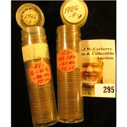 (53) 1926 P & (51) 26 D U.S. Lincoln Cents in a plastic coin tubes.
