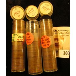 (52) 1929 P, (54) 29 D, (36) 29 S U.S. Lincoln Cents in a plastic coin tubes.
