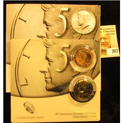 2014 P & D 50th Anniversary Kennedy Half-Dollar Uncirculated Coin Set in original holder as issued b