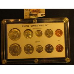 1964 P & D United States Mint Set in a Capital holder. Gem BU. (10 piece).