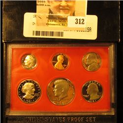 1981 S Filled S Proof Set 6 Coins in original holder. All Deep Mirror Cameo Frosted.