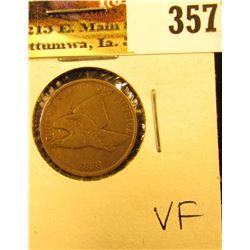 1858 Flying Eagle Cent, VF.