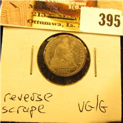 1877 CC U.S. Seated Liberty Dime, VG/Good, reverse scrape.