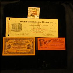 """""""Riley Sweers Company's United Profit-Sharing Coupon…Ten Coupons"""", S/N 264177A; """"West Berkeley Bank…"""