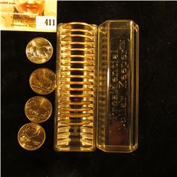 """Fancy Plastic case labeled """"Presidential Dollar Keeper"""", contains (20) National Parks, Territories,"""