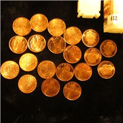 (4) 1929 One-Quarter Ounce Indian Coppers; (4) One-Quarter Ounce Buffalo Coppers; (4) One-Quarter Ou