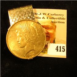 1922 U.S. Peace Silver Dollar, Brilliant Uncirculated, but mounted in a Money Clip.