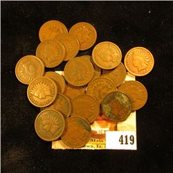 Mixed group of (19) Various Indian Head Cents.