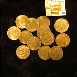 (13) Various Eisenhower Dollars, one of which has an advertising sticker for Mt. Graham Golf Course