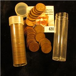 (45) Old Wheat Cents & (27) Old Canada Maple Leaf Cents in plastic tubes.