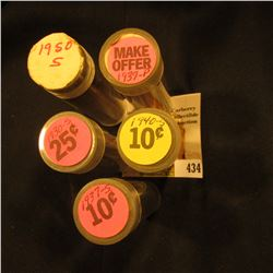 """1930S, 37S, 39P, 40S, & 50S Solid Date Circulated Rolls of U.S. Lincoln """"Wheat' Cents."""