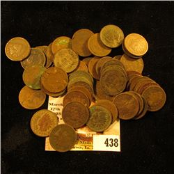 (50) Old U.S. Indian Head Cents. Mixed date, but mostly lower grade.
