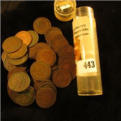 (54) Old U.S. Indian Head Cents. Mixed date in a plastic tube.