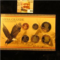 2011 Mesa Grande U.S. American Indian Tribe Set of coins in special holder. Contains Cent (Quanah Pa