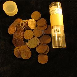 (53) Old U.S. Indian Head Cents dating back to and including an 1863. Mixed dates in a plastic tube.