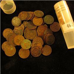 (50) Old U.S. Indian Head Cents dating back to and including an 1859. Mixed dates in a plastic tube.
