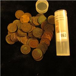 (50) Old U.S. Indian Head Cents dating back to and including an 1863. Mixed dates in a plastic tube.