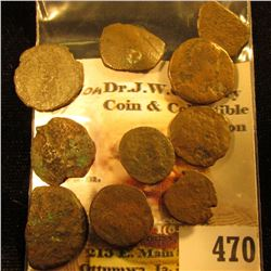(10) Different Roman Copper Coins. None identified at this time.