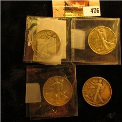 1929 S, 37 S, 39 D, & 42 P Walking Liberty Half Dollars grading up to EF.