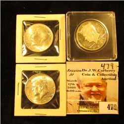 (2) 1964 D BU & 2013 S Silver Proof Kennedy Half Dollars.