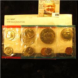 1978 U.S. Mint Set, original as issued in original cellophane and envelope.