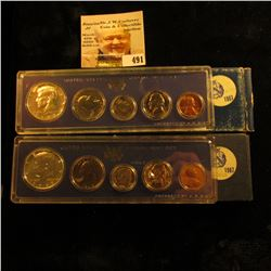 Pair of 1967 Silver U.S. Special Mint Sets original as issued.