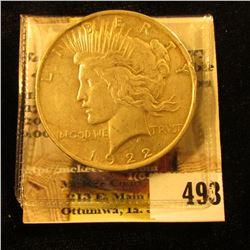 1922 P U.S. Peace Silver Dollar.