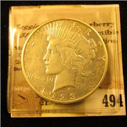 1923 S U.S. Peace Silver Dollar.