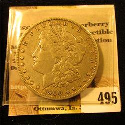 1900 O U.S. Morgan Silver Dollar, VF.