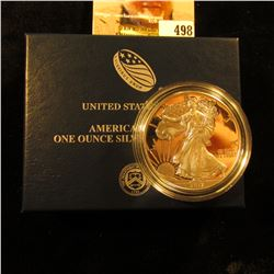 2017 W Silver Proof American Eagle Dollar in original box of issue with COA.