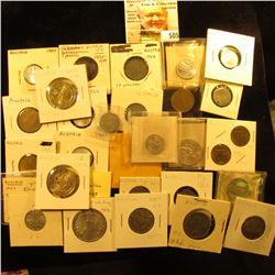 Austria Coinage: 1896 heller KM 2800 EF; 1952 Unc, 1954 Unc, 1957 Unc, 1962 Unc KM2876 Two Groschens