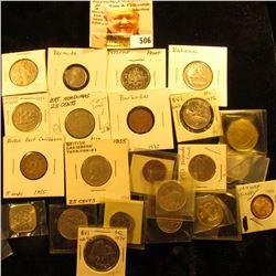 1966 5c Unc KM3, 1966 10c KM4 Unc, 1966 15c KM5 Unc, & 1981 25c KM63.1 EF Bahamas Coins; 1973 KM10 C