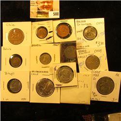 1942 Bolivia 10 centavos KM179a  EF, 1942 Bolivia  20 centavos  KM183 VF, 1971 Bolivia  20 centavos