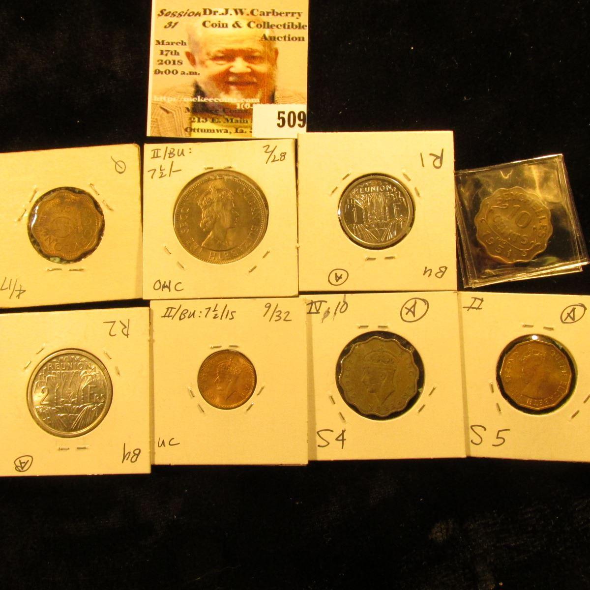 1944 Ceylon 10 cents KM118 EF