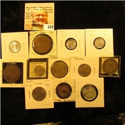 1736-1795 China cash S1466 VG; China Hunan 20 cash Y400.2 VF; 1924 China Republic 20 cash Y312 F wit