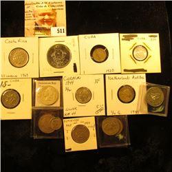 1951 Costa Rica 5 centimos KM184.2 UNC; 1937 Costa Rica 25 centimos KM17.5 F; 1969 Costa Rica 25 cen