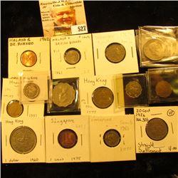 1901 Hong Kong Silver 10 cents KM6.3 EF; 1983 Hong Kong 10 cents KM49 VF; 1978 Hong Kong 20 cents KM