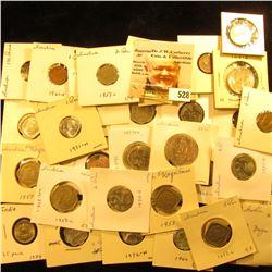 1945 India Silver 1/4 Rupee KM547 EF; 1952B India Pice KM1.4 AU; 1953 India pice KM1.4 UNC; 1959H In