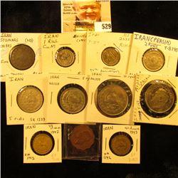 Iran 50 dinars KM883 F Tehran mint;1942 Iran 50 dinars KM1142 EF; 1943 Iran 50 dinars KM1142 EF; 197