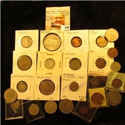 1961 Mexico 5 centavos KM426 UNC;1959 Mexico 10 centavos KM433 UNC; 1921 Mexico 20 centavos KM438 F;