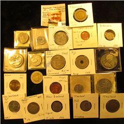1980 Burma 25 pyas KM48 UNC FAO; 1975 Burma 50 pyas KM46 UNC FAO;1975 Cook Islands 50 cents KM6.1 UN