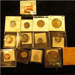 1950 Paraguay centimo KM20 UNC;1961 Peru centavo KM227 UNC; 1950 Peru 2 centavos KM228 UNC; 1951 Per
