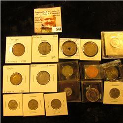 1900 Portugal 100 reis KM546 VF;1973 Portugal 50 centavos KM596 VF;1981 Portugal escudo KM614 VF; 19