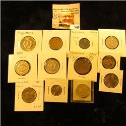 1976 Yugoslavia 20 para KM45 EF; 1938 Yugoslavia 50 para KM18 UNC; 1945 Yugoslavia 50 para KM25 AU;1
