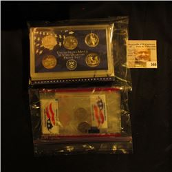 2002 S U.S. Proof Set & Denver Mint souvenir wrapped Coins in original holders.
