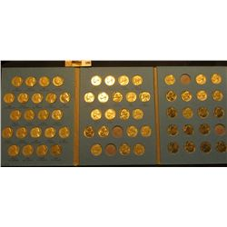 1962-1995 partial Set of Jefferson Nickels in a blue Whitman Coin folder.
