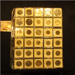 "Collection of (68) Argentinan Coins in 1 1/2"" x 1 1/2"" 30-pocket plastic pages."