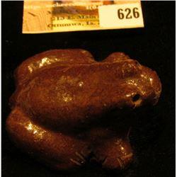 "2"" x 2"" x 1 1/4"" ""Lehigh"" Pottery Clay Frog."
