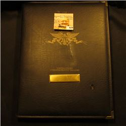 """United States Commemorative Gallery Deluxe Album containing (50) Gem BU State Quarters & (17) Presi"